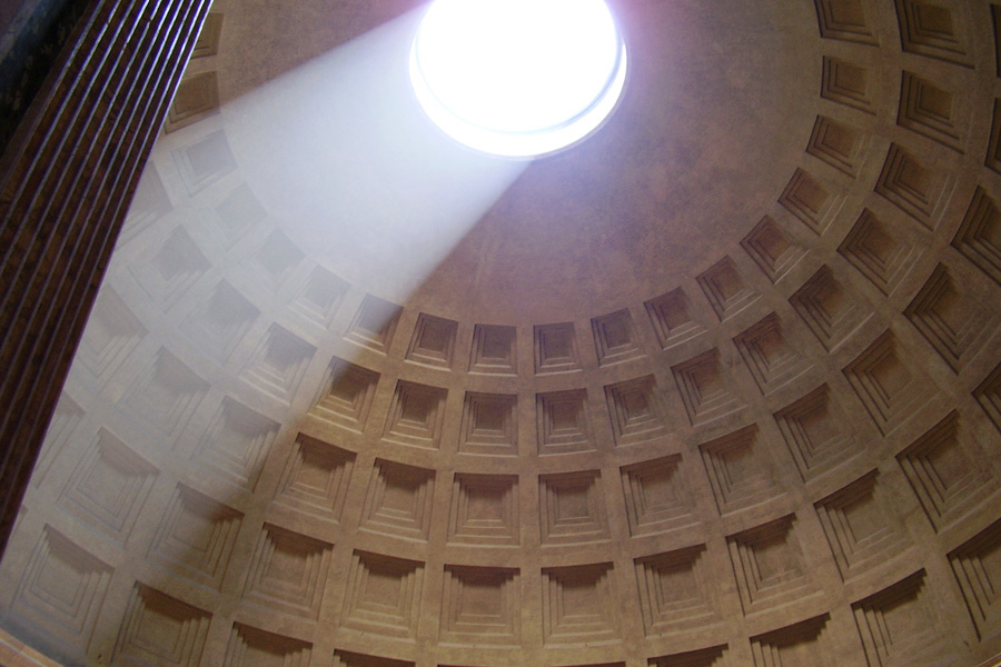 Architecture PhotographyThe Pantheon in Rome, Italy has a ceiling that also functions as a clock. The variety of human structures and their forms is simply astounding.